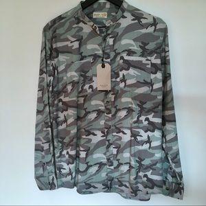 Zara Boys Collection Camo Shirt Size 13-14 NEW